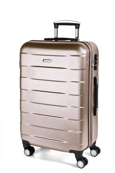 March Kabinový cestovní kufr Bumper 34,5 l – světle béžová