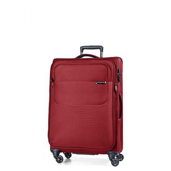 March Kabinový cestovní kufr Carter SE 40 l – červená
