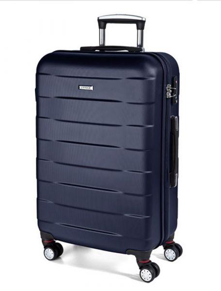 March Střední cestovní kufr Bumper 71 l – modrá
