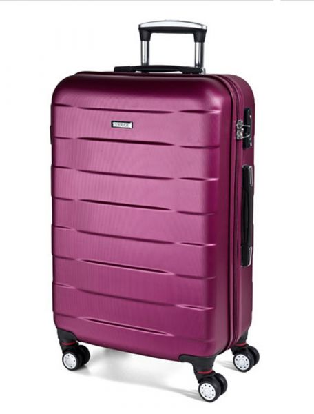 March Střední cestovní kufr Bumper 71 l – růžová