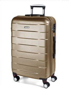 March Střední cestovní kufr Bumper 71 l – zlatá