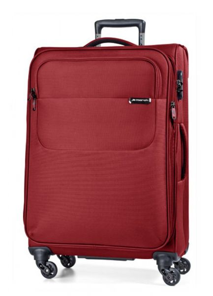 March Velký cestovní kufr Carter SE 107 l – červená