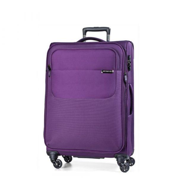 March Střední cestovní kufr Carter SE 79 l – fialová