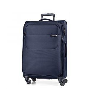 March Střední cestovní kufr Carter SE 79 l – modrá
