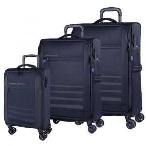 March Sada cestovních kufrů Sigmatic S + M + L, tmavě modrá