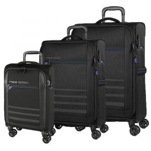 March Sada cestovních kufrů Sigmatic S + M + L, černá