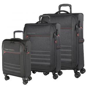 March Sada cestovních kufrů Sigmatic S + M + L, tmavě šedá