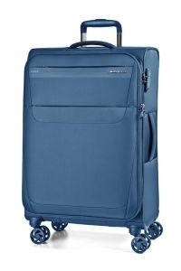 March Cestovní kufr Aeon 70/83 l – modrá