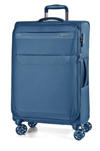 March Cestovní kufr Aeon 104/121 l – modrá