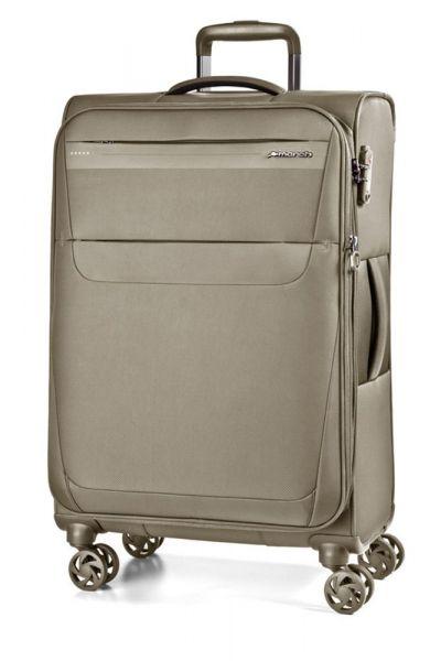 March Cestovní kufr Aeon 104/121 l – světle hnědá