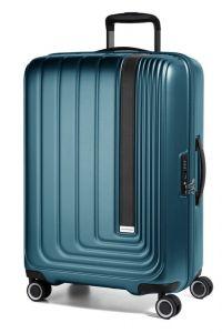 March Skořepinový cestovní kufr Beau Monde 101 l – tmavě zelená