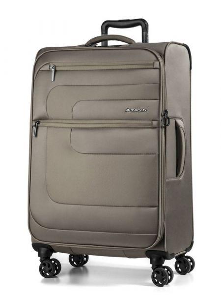 March Látkový cestovní kufr Classic 104/121 l – hnědá