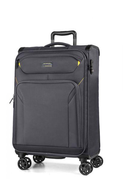 March Kabinový cestovní kufr Black Forest S 38 l – šedá
