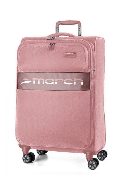 March Kabinový cestovní kufr Mosaic S EXP 38 l – růžová