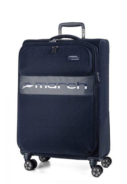 March Kabinový cestovní kufr Mosaic S EXP 38 l – tmavě modrá