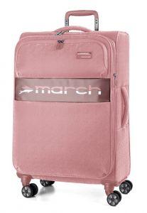 March Látkový cestovní kufr Mosaic M EXP 67/72 l – růžová