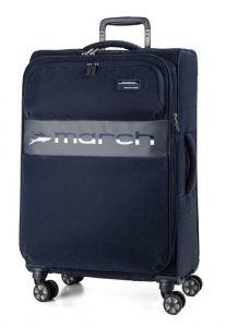 March Látkový cestovní kufr Mosaic M EXP 67/72 l – tmavě modrá