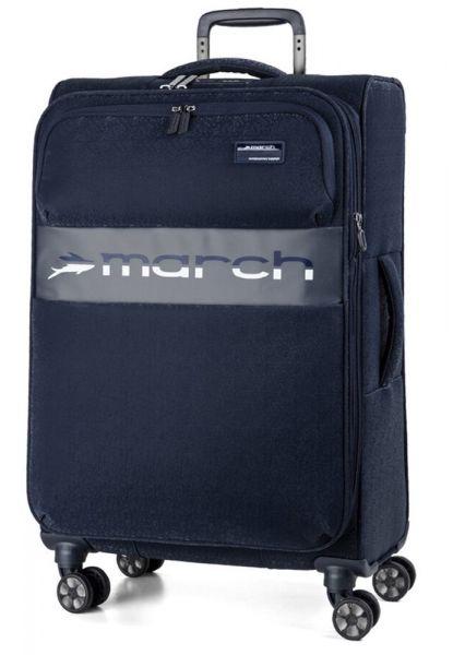 March Látkový cestovní kufr Mosaic L EXP 93/105 l – tmavě modrá