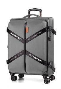 March Kabinový cestovní kufr Exploration S 3834 39 l – šedá