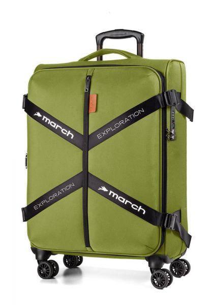 March Kabinový cestovní kufr Exploration S 3834 39 l – zelená