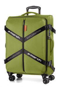 March Látkový cestovní kufr Exploration M 3834 69/79 l – zelená