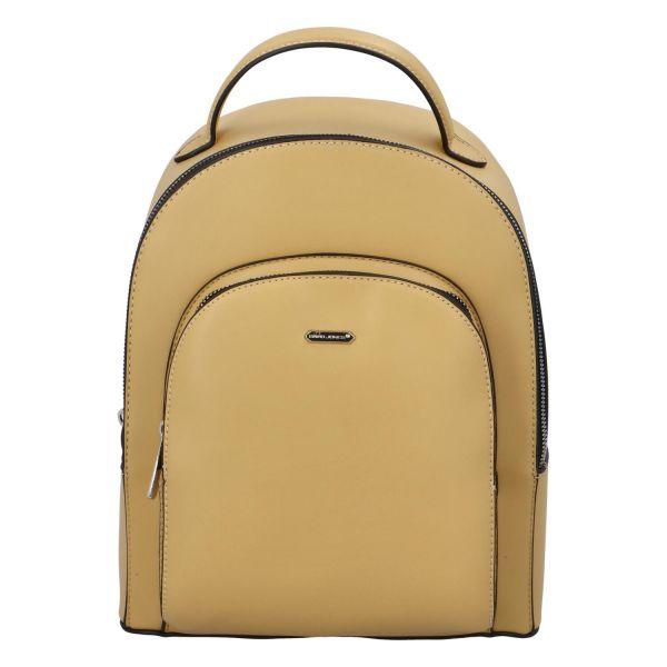 Módní dámský batoh David Jones Milade – žlutá