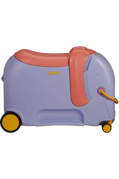 Samsonite Dětský kufr Dream Rider Deluxe Ride-On Spinner Elephant 25 l – fialová