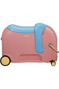 Samsonite Dětský kufr Dream Rider Deluxe Ride-On Spinner Elephant 25 l – růžová