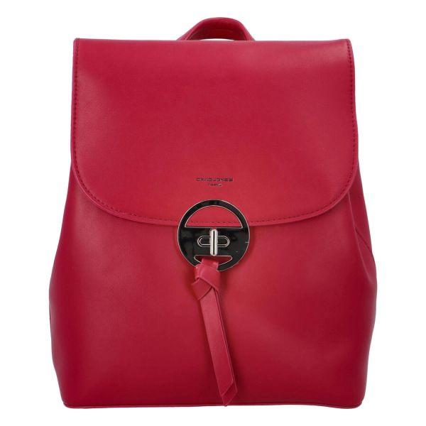 Módní dámský batoh David Jones Sabine – sytě růžová