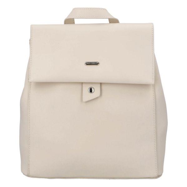 Módní dámský batoh David Jones Dione – béžová