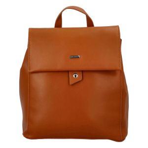 Módní dámský batoh David Jones Dione – koňak