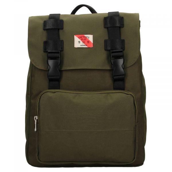 Pánský vintage batoh Lerros Charlie – zelená