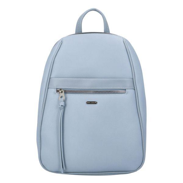 Módní dámský batoh David Jones Izolda – světle modrá