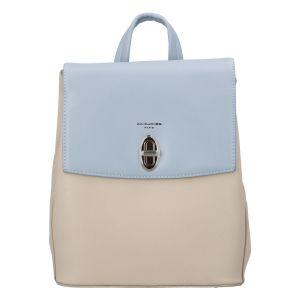 Módní dámský batoh David Jones Lea – béžovo-modrá