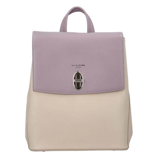 Módní dámský batoh David Jones Lea – fialová