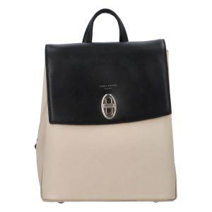 Módní dámský batoh David Jones Lea – béžovo-černá
