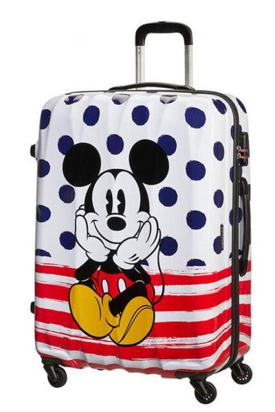 American Tourister Cestovní kufr Disney Legends Spinner 88 l – Mickey Blue Dots