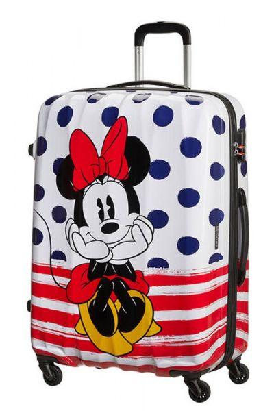 American Tourister Cestovní kufr Disney Legends Spinner 88 l – Minnie Blue Dots