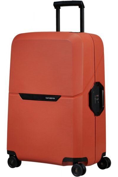 Samsonite Skořepinový cestovní kufr Magnum Eco M 82 l – oranžová
