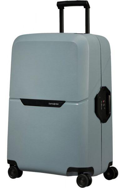 Samsonite Skořepinový cestovní kufr Magnum Eco M 82 l – světle modrá