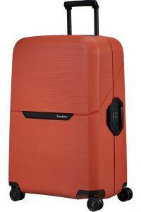 Samsonite Skořepinový cestovní kufr Magnum Eco L 104 l – oranžová