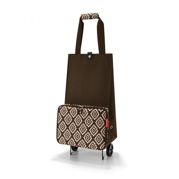 Reisenthel Skládací nákupní taška na kolečkách Diamonds Mocha 30 l