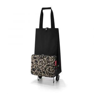 Reisenthel Skládací nákupní taška na kolečkách Baroque Taupe 30 l