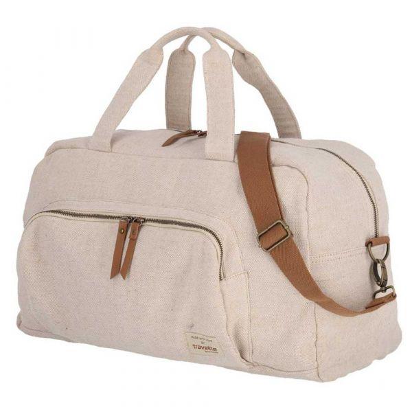 Travelite Cestovní taška Hempline Weekender Beige 32 l