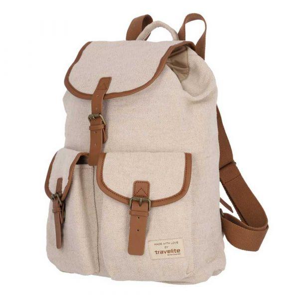 Travelite Městský batoh Hempline Clap Beige 9,7 l