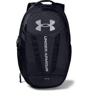 UA Hustle 5.0 Backpack-BLK Black / Black / Silver