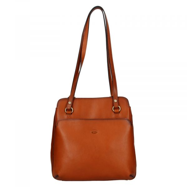 Dámská kožená batůžko kabelka Katana Emily – koňak