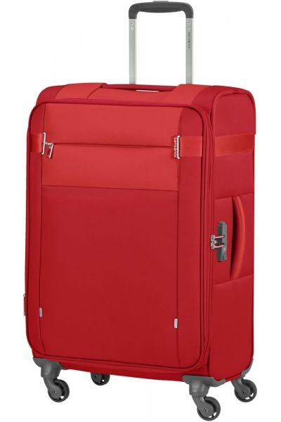 Samsonite Látkový cestovní kufr Citybeat EXP 67/73 l – červená