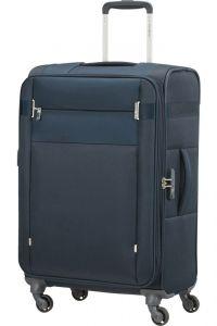 Samsonite Látkový cestovní kufr Citybeat EXP 67/73 l – tmavě modrá