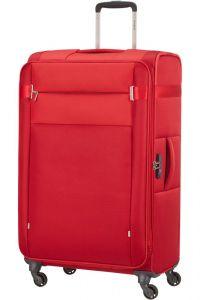 Samsonite Látkový cestovní kufr Citybeat EXP 105/113 l – červená